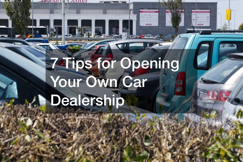 how to open a new car dealership